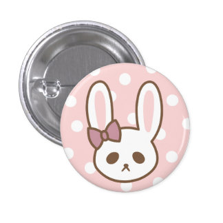 Girly Bunny by Yokute 3 Cm Round Badge