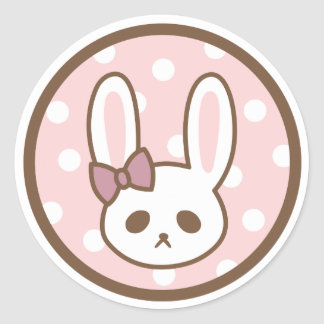 Girly Bunny by Yokute Classic Round Sticker