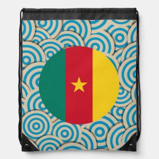 Girly Cameroonian Flag Gift Drawstring Bag