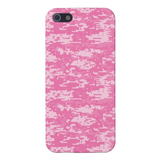 Girly Camo Pink Camouflage Case For The iPhone 5