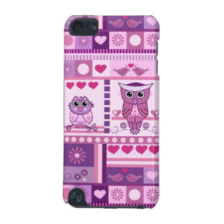 Girly case with Owls lovebirds hearts Patterns iPod Touch (5th Generation) Covers