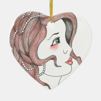 Girly Ceramic Heart Decoration