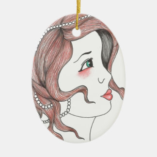 Girly Ceramic Oval Decoration
