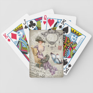girly chandelier Vintage victorian Bicycle Playing Cards