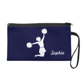 Girly Cheerleaders Night Out Wristlet Blue