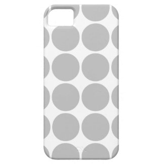 Girly Chic Accessory Party Treat Silver Polka Dots Barely There iPhone 5 Case