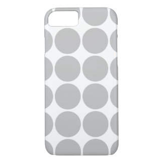 Girly Chic Accessory Party Treat Silver Polka Dots iPhone 7 Case
