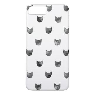 Girly Chic Cute Cat Pattern iPhone 7 Plus Case