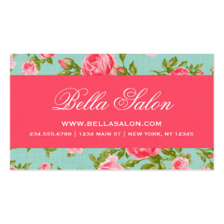 Girly Chic Elegant Vintage Floral Roses Pack Of Standard Business Cards
