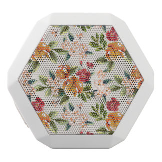 Girly Chic Floral Pattern Watercolor Illustration White Boombot Rex Bluetooth Speaker