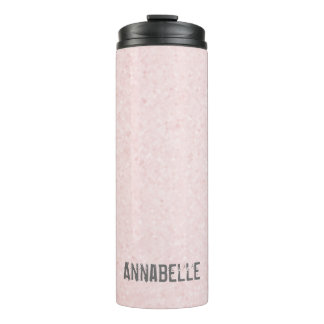 Girly chic glossy shine pink personalized thermal tumbler