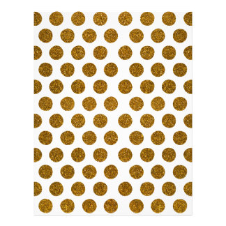 Girly Chic Gold Polka Dots Glitter Photo Print 21.5 Cm X 28 Cm Flyer