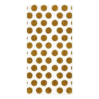 Girly Chic Gold Polka Dots Glitter Photo Print Personalized Photo Card