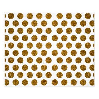 Girly Chic Gold Polka Dots Glitter Photo Print