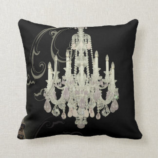 girly chic retro fashion paris eiffel tower cushion
