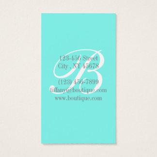 Girly chic turquoise aqua Robins Egg Blue Business Card