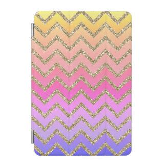 Girly Colorful & Gold Chevron iPad Smart Cover iPad Mini Cover