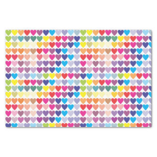 Girly Colorful Rainbow Hearts Tissue Paper