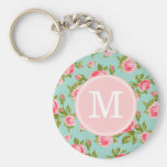 Girly Cottage Chic Romantic Floral Vintage Roses Key Chain