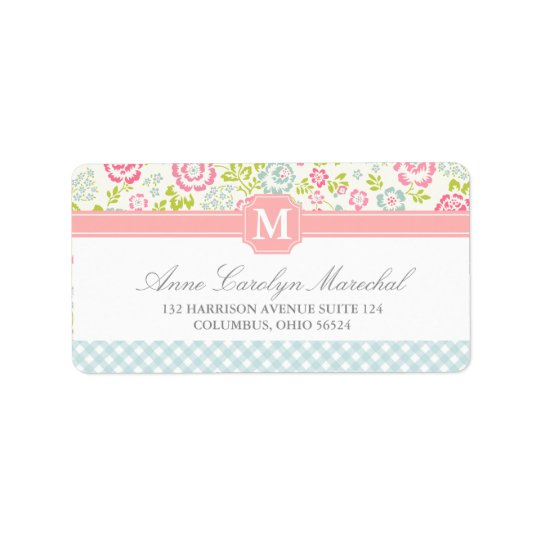 Girly Country Floral Personalised Label