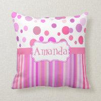 Girly custom cushion, girl's room pillows