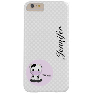 Girly cute cow cartoon customizable iphone case barely there iPhone 6 plus case
