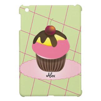 Girly Cute Cupcake with Red Cherry iPad Mini Covers