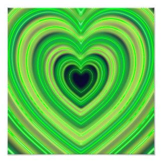 Girly Cute Neon Heart Design Photo