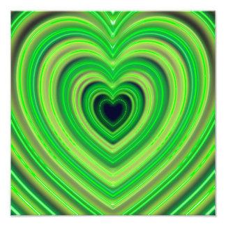 Girly Cute Neon Heart Design Art Photo