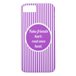 Girly Cute Purple and White Lines iPhone 7 Case