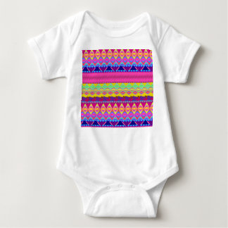 Girly cute trendy aztec andes design baby bodysuit