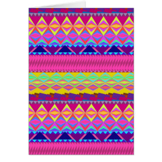 Girly cute trendy aztec andes design card