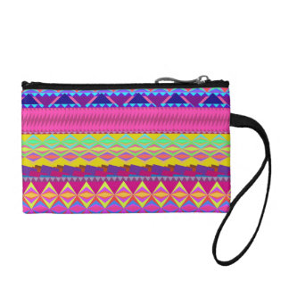 Girly cute trendy aztec andes design coin purse