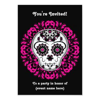 Girly day of the dead sugar skull 5x7 party 13 cm x 18 cm invitation card