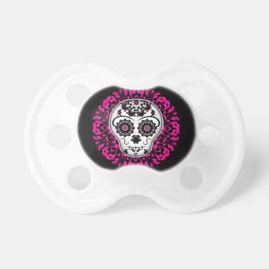 Girly day of the dead sugar skull dummy