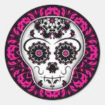 Girly day of the dead sugar skull sticker