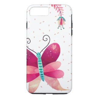 Girly design gift idea with butterfly and iPhone 8 plus/7 plus case