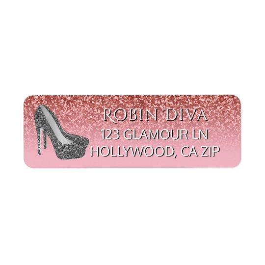 Girly Diva Pink Glitter | Glam High Heel Shoes