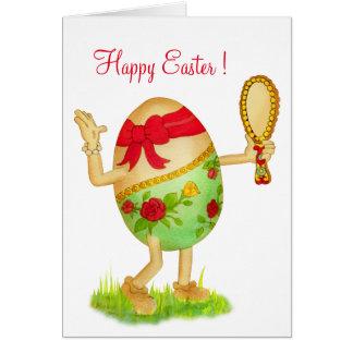 Girly Egg Easter Card