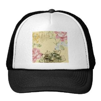 Girly elegant floral fashion vintage Paris Cap
