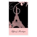 girly elegant pink eiffel tower paris vintage pack of standard business cards