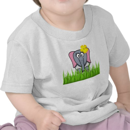 Girly Elephant In The Grass T-shirts