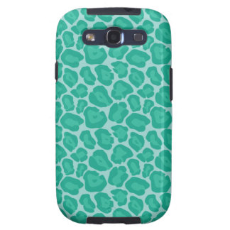 Girly Emerald Leopard Pattern Galaxy SIII Case
