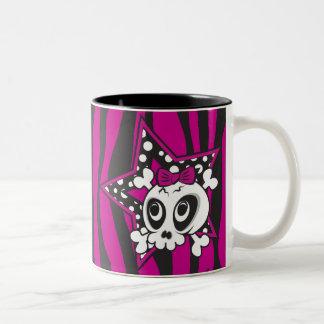 Girly Emo Skull Mugs