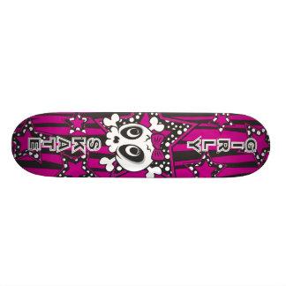 Girly Emo Skull 21.6 Cm Old School Skateboard Deck