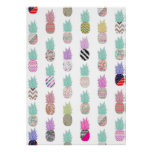 Girly Exotic Pineapple Aztec Floral Pattern