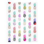 Girly Exotic Pineapple Aztec Floral Pattern 21.5 Cm X 28 Cm Flyer