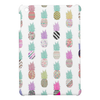 Girly Exotic Pineapple Aztec Floral Pattern iPad Mini Cases
