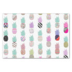 Girly Exotic Pineapple Aztec Floral Pattern Tissue Paper