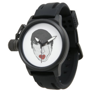 Girly face wristwatches